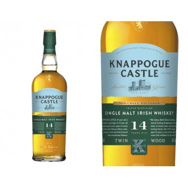 WHISKY KNAPPOGUE CASTLE SINGLE MALT 14 ANS