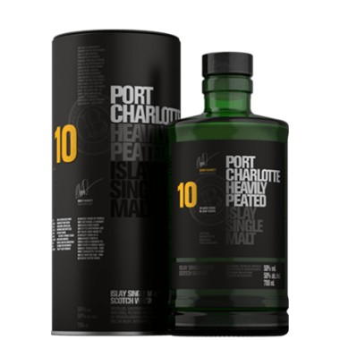 WHISKY HEAVILY PEATED PORT CHARLOTTE 10 ANS